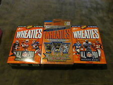 3 Fabulous Vintage Wheaties Boxes - Nfl Greats - Running Backs, Wide Receiver,Qb