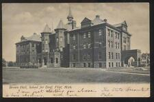 Postcard FLINT Michigan/MI  School for the Deaf Campus Building view 1906