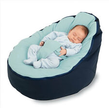 Baby Bean Bag - Unfilled With 2 Removable Covers & Harness - Navy Blue - Quality
