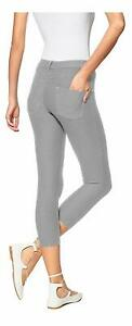 HUE Womens Original Denim Capris Gris X-Large