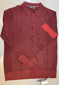 Rapha City Range Merino Snap Through Dark Red Size XX Large Brand New With Tag