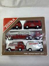 Vintage Tiny Tonka Fire Department Set In Box, No. 830 Fire Ambulance
