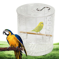 Transparent Parrot Cage Bird Cage with Stand and Water Bowls Acrylic Pet Cage