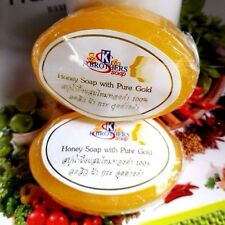 100 % Pure Gold Honey Soap for reduce wrinkles, acne, freckles Face,Wash,Body,SO