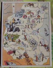 Carte de France Illustrées d'après Pinchon Champagne Epernay Troyes Nogent Reims