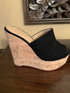 Womens' Wedges Express Black Size 6