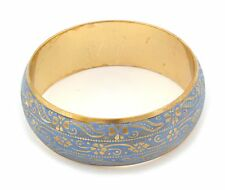 Zest Bella Antica Motivo A FIORI BANGLE ORO & Blue