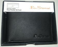 Ben Sherman - Kensington Collection 5 Pocket Leather Wallet - New