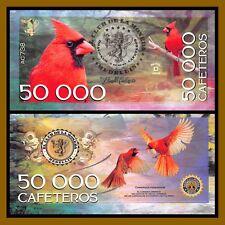 """El Club De La Moneda 50,000 Cafeteros, 2016 """"D"""" Series Vermilion Cardinal Unc"""