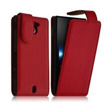 Housse coque étui pour Sony Xperia Sola couleur Rouge