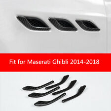 For Maserati Ghibli 2014 -2018 Carbon Fiber Look Side Air Vent Fender Cover Trim