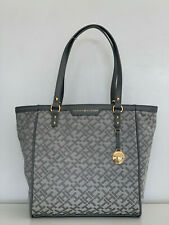 NEW! TOMMY HILFIGER GRAY SHOPPER SATCHEL TOTE BAG PURSE $98 SALE