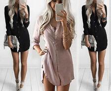 Women Ladies Fashion T-shirt Tops Long Sleeve Blouse Casual Loose Shirt Dress