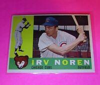 1960 Topps #433 WB Irv Noren Cubs NmMt High Grade Sharp!