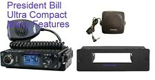 President Bill Ultra Compact Multi Channel 12 Volt Am/fm CB Radio
