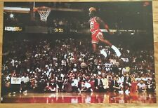 Michael Jordan Slam Dunk Contest Free Throw Line Poster  23 X 35
