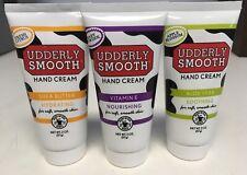 (3) Pk Udderly Smooth Nourishing Hand Cream ~Variety Pack~ Shea, Aloe, Ve 2oz D5