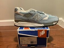 New Balance 998 Pool Blue Suede Sneakers Mens 9.5 M998LL Made In The USA