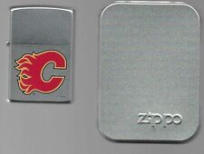 ZIPPO LIGHTER CALGARY FLAMES 2006 NHL HOCKEY NEW FAN SOUVENIR LOGO SEALED