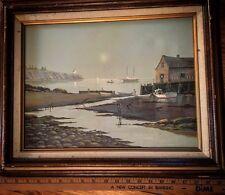 VAL McGann Oil on Canvas Painting Marine Coastal Landscape Maine Marine Art