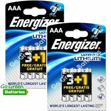 8 x Energizer Aaa Ultimate Lithium Batteries Lr03 L92 Digital Camera 2036 expiry