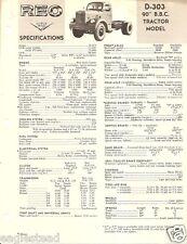 Truck Brochure - Reo - D-303 - 90 inch B.B.C. Tractor - 1963 (TB515)