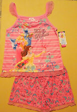 "NWT Disney Princess Girls Cinderella ""Totally Princess"" 2-Piece Pajama Set 7/8"