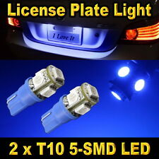 T10 5-SMD 5050 Blue License Plate Tag Light Bulbs 168 194 906 912 921 2825 2827