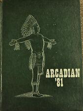 1981 ARCADIAN Yearbook Arcadia High School Hancock County Ohio