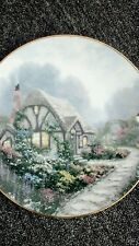 "Thomas Kinkade collectors plate, ""Chandler's Cottage"" 1991 with certificate"