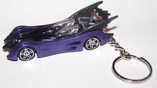 "CUSTOM MADE..BATMAN ""BATMOBILE"" (PURPLE/BLACK) KEYCHAIN..GREAT GIFT IDEA!"