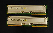 SAMSUNG 128MB / 8 nonECC PC800-45 RDRAM MR16R0828AN1-CK8IN Modules Matched Pair