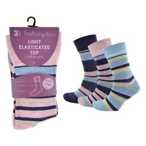 **Sale Sale**  LADIES COTTON RICH LIGHT ELASTICATED DIABETIC SOCKS SK259A