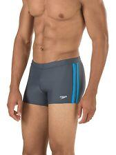 SPEEDO Fitness Shoreline Square Leg Men's Swim Briefs Shorts M Lava Gray **NWT**