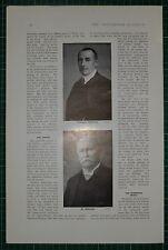1916 WWI WW1 PRINT ~ PROFESSOR HELFFERICH ~ DR DELBRUECK