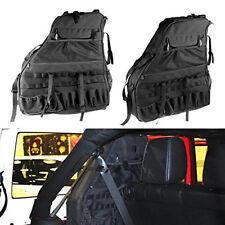 Fit Jeep Wrangler JK 07-17 4Door Roll Bar Tactical Storage Bag Organizers 2PCS