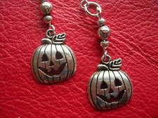 Pendientes de plata de Halloween. Ganchos. nuevo. pendientes de calabaza.