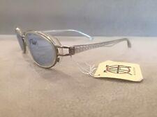 Jean Paul Gaultier JPG Vintage OVAL Sunglasses 58-0025 Silver  Crystal BLUE LNS