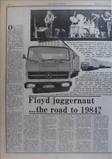 Pink Floyd Rock Music Clippings, Cuttings & Articles