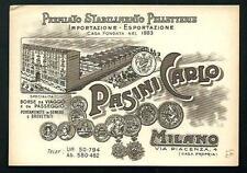 Milano : Pasini Carlo - cartoncino pubblicitario anni '20 circa