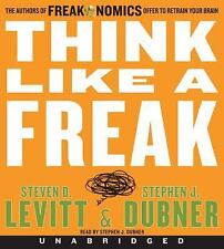 Think Like a Freak by Steven D. Levitt and Stephen J. Dubner (2014, CD)