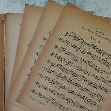 BACH d minor trio , 2 violin / cello / piano - cembalo , breitkopf