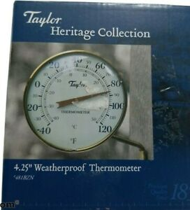 Taylor Precision Products Heritage Metal Dial Thermometer 4.25-Inch New Open Box