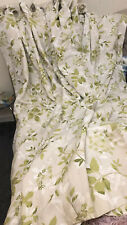 """Laura Ashley Ashdown Olive Curtains Eyelets Lined 135"""" W X 84.5"""" Drop"""
