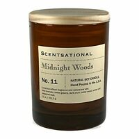Scentsational Natural Soy Candle 11oz Colored Glass Jar - No. 11 Midnight Woods