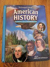 Mcdougal Littell Middle School American History book
