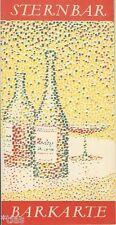 Sternbar Magdeburg Barkarte Getränkekarte DDR Cocktails Alkohol um 1964
