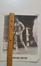 Brian Adias Wrestler,Westling 8×10 Black & White Photo