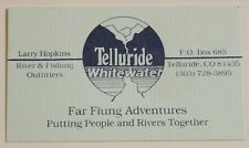 Telluride Whitewater River & Fishing Vintage Business Card Colorado