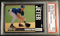 1994 DEREK JETER COLLECTORS CHOICE WHITE LETTER ROOKIE #644  PSA 9 YANKEES